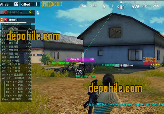 Pubg Mobile GG HACK Menu Aim, Wall Hilesi Ocak 2020 Gameloop