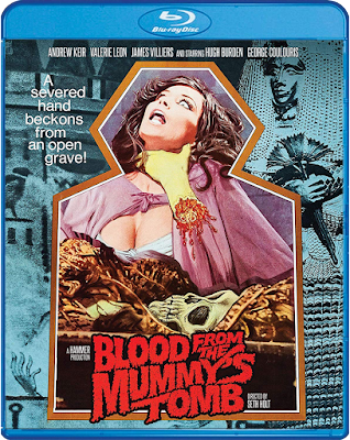 Scream Factory's BLOOD FROM THE MUMMY'S TOMB Bluray Cover