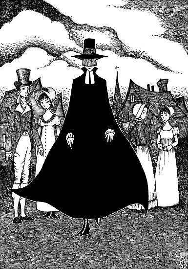 nathaniel hawthorne all the ministers black colored veil