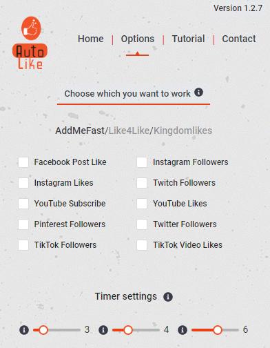 Addmefast and kingdomlikes and Like4like Bot 2021