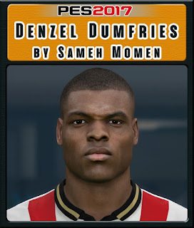 PES 2017 Faces Denzel Dumfries by Sameh Momen