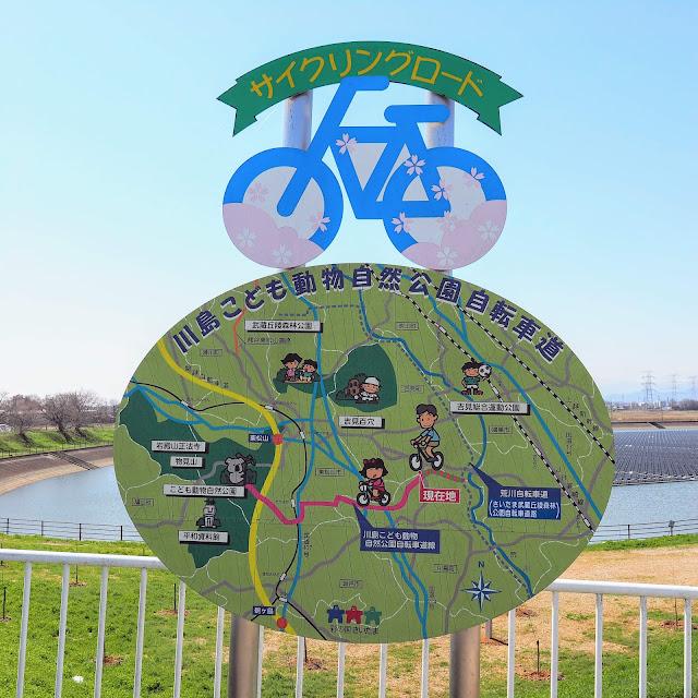 比企自転車道(川島こども動物自然公園自転車道) 梅ノ木古凍貯水池
