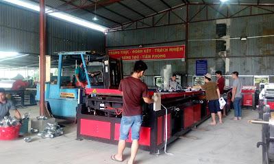 Day chuyen Auto line VI duoc di chuyen vao xuong san xuat