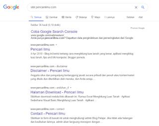 Mendaftarkan Blogger Agar Terdaftar Cepat di Google Secara otomatis
