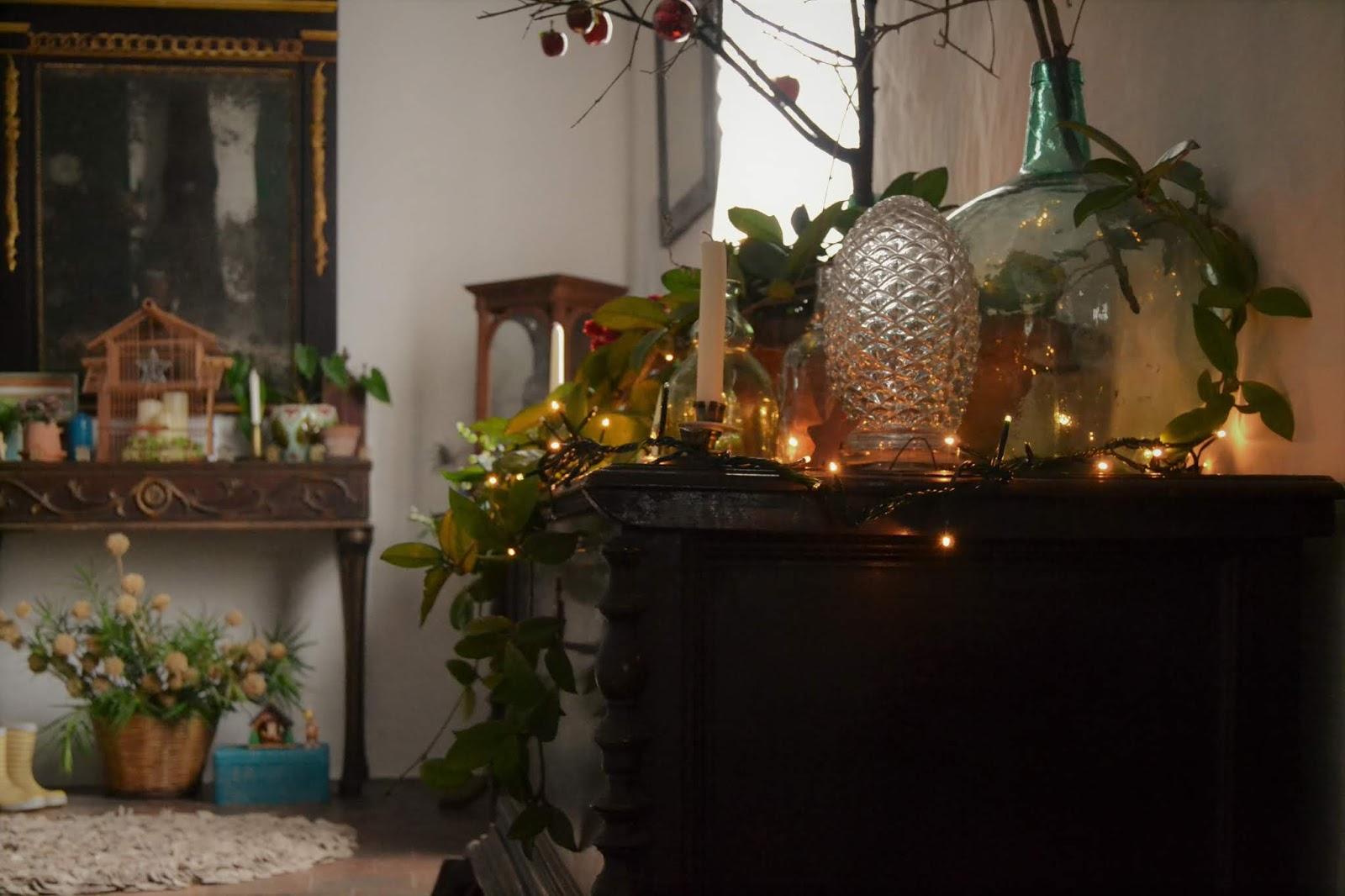 La decoración de mi casa; como decorar tu navidad con plantas y objetos antiguos