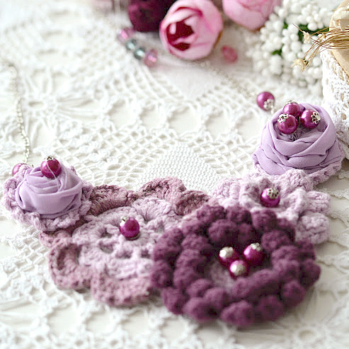 Purple crochet necklace by Little Treasures