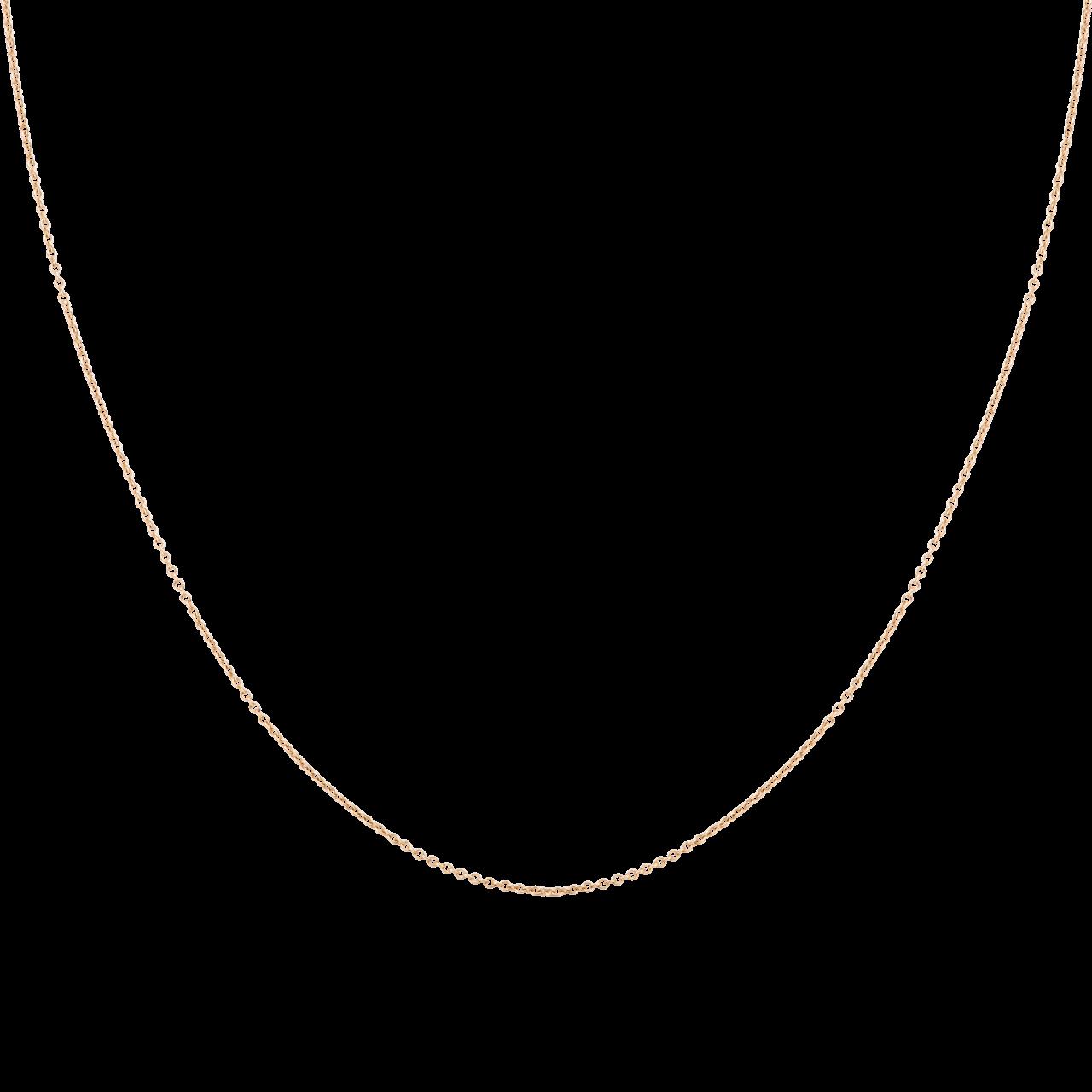 Dây chuyền Vàng 18K PNJ dây đan kiểu chữ cong 0000Y000256