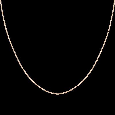 Dây chuyền Vàng 18K PNJ dây đan kiểu chữ cong