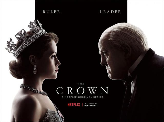 poster reine Elizabeth et Churchill se faisant face