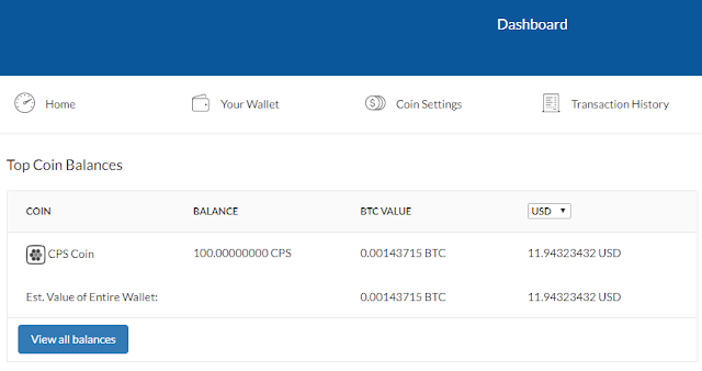 get 100 CPS coin free