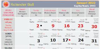 kalender bali januari 2022 masehi - kanalmu