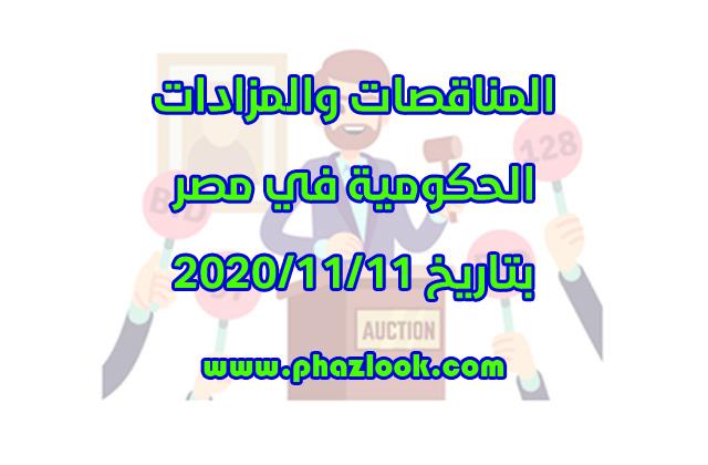 مناقصات ومزادات مصر في 2020/11/11