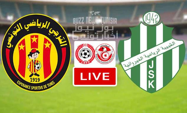 Watch Match ES Tunis - Taraji vs JS Kairouan Live Stream