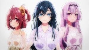 """Ore o Suki nano wa Omae dake kayo Ending 1 - """"Hanakotoba (ハナコトバ)"""" by Sumireko Sanchouin (Haruka Tomatsu), Aoi Hinata (Haruka Shiraishi), Sakura Akino (Sachika Misawa)"""