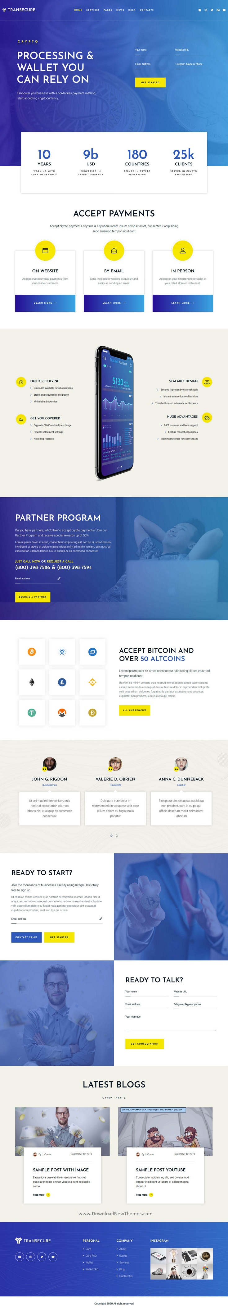 Online Payment Gateway WordPress Theme