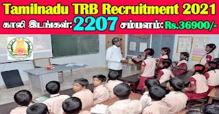TN TRB PG Assistant Recruitment 2021 2207 Posts
