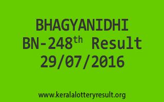 BHAGYANIDHI BN 248 Lottery Result 29-07-2016