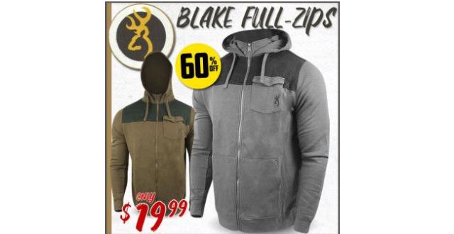 $19.99 Browning Blake Full-Zip Hoodie! That's a monster 60% off.