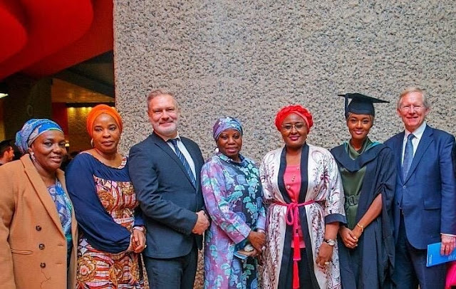 Aisha Buhari In Smiles As Her Daughter Graduates With First Class From UK University