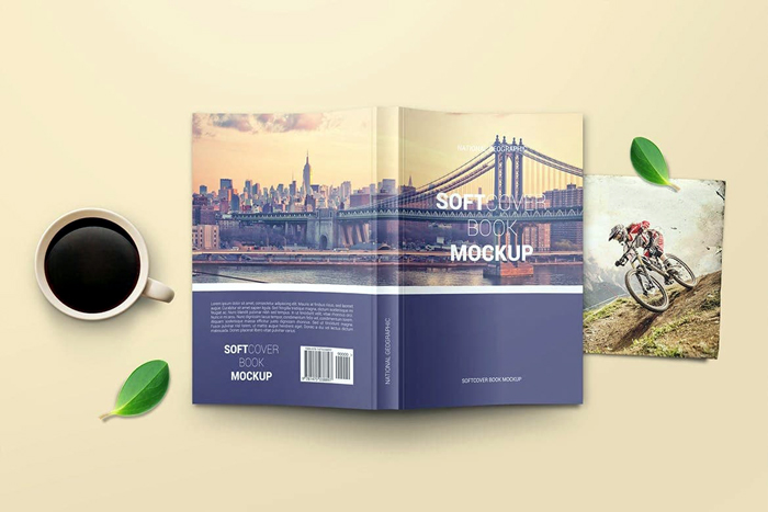 Free Download Soft Cover Book Mockup 1