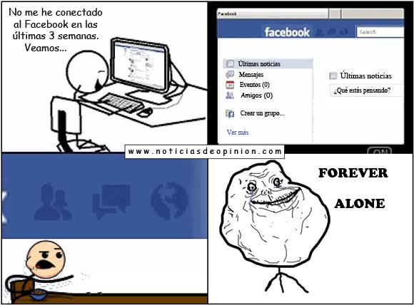 Humor: meme Forever alone, Facebook