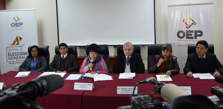 Los vocales del TSE aseguran que la elección de octubre será transparente / FUENTE DIRECTA