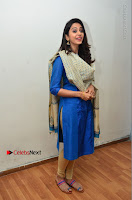 Actress Rakul Preet Singh Stills in Blue Salwar Kameez at Rarandi Veduka Chudam Press Meet  0121.JPG
