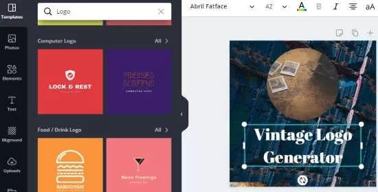 Cara membuat logo vintage secara online-2