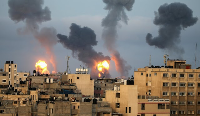 Palestinian militants launched dozens of rockets from Gaza,  Israel unleashed new air strikes against them.