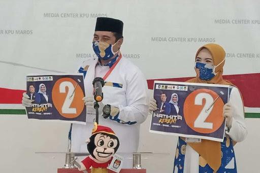 Nomor 2 Angka Keberuntungan Chaidir Syam-Suhartina Bohari Pilkada Maros 2020