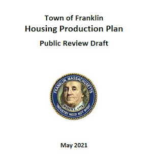 The Introduction to the **2021 Town of Franklin - Housing Production Plan - Public Review Draft**