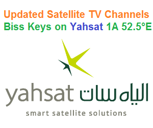 Updated Satellite TV Channels Biss Keys on Yahsat 1A 52.5°E