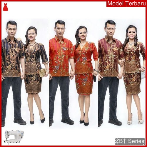 ZBT09809 Kebaya Batik Couple Lucyana Sogan Rok BMGShop