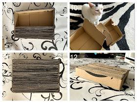 How To Make The Mini Cardboard Scratcher c ©BionicBasil® Craft-Fest Day 4
