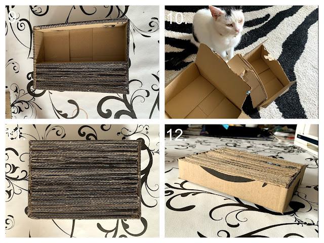 How To Make The Mini Cardboard Scratcher c ©BionicBasil® Craft-Fest Day 2