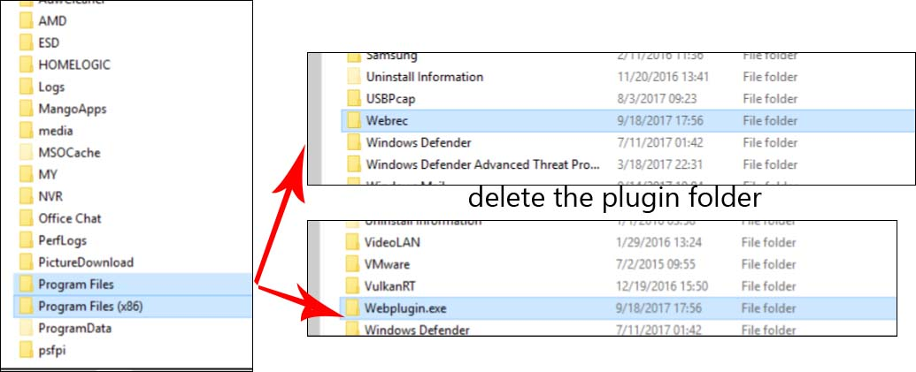 How to Uninstall Web Plugin of Security Cameras