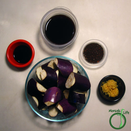 Morsels of Life - Eggplant in Spicy Garlic Sauce Step 1 - Gather all materials.