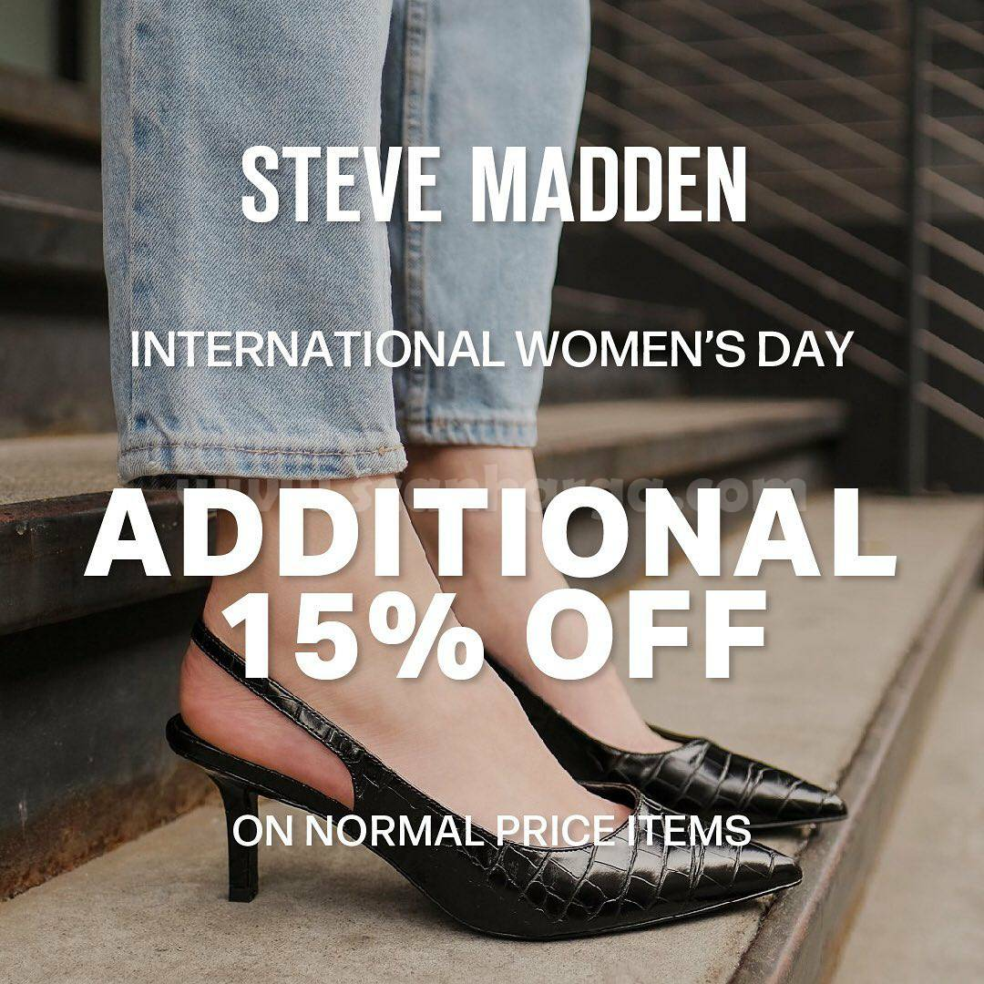 Steve Madden Promo International Women's Additional 15% Off