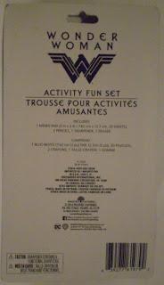 Back of Wonder Woman Activity Fun Set