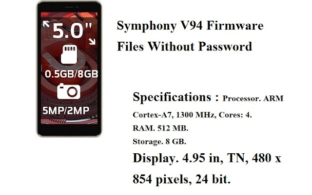 Download Symphony V94 Stock Firmware Flash File 100 % Tested Without Password