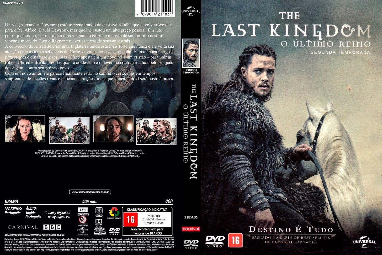 3 Temporada De The Last Kingdom mundo das capas bj: capa-dvd-the last kingdom - o ultimo