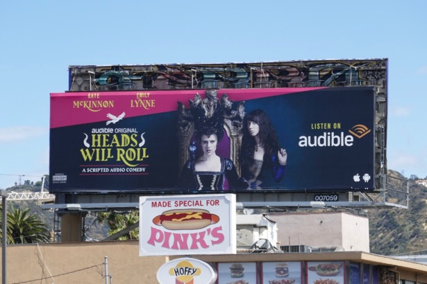 Heads Will Roll Audible billboard