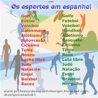 Os esportes em espanhol, espanhol, aprender espanhol, espanhol para iniciantes, dicas de espanhol, curso de espanhol