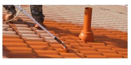 cara mengecat atap
