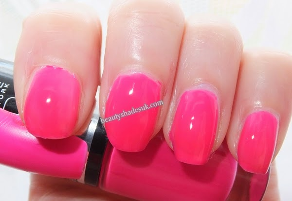 Maybelline Color Show Electric Pink Swatch