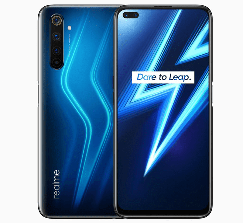 Realme 6 Pro front and back design
