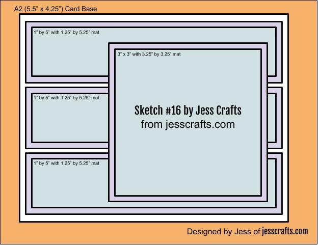 Card Sketch #16 by Jess Crafts