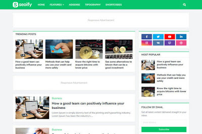 Seoify blogger premium template
