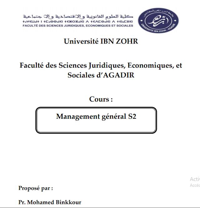 Management général S2 Binkkour pdf