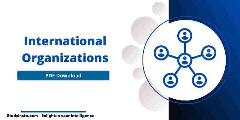 International Organizations List - PDF Download